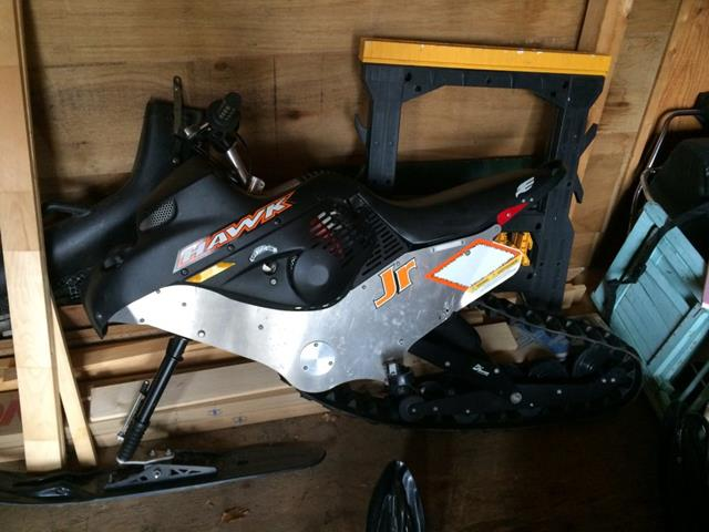 sleigh sled snow behind tow ice fishing bike condition ontario