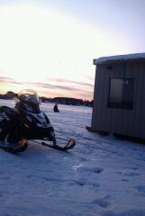 Ice fishing lake nosbonsing