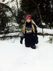 1st sled ride 2013